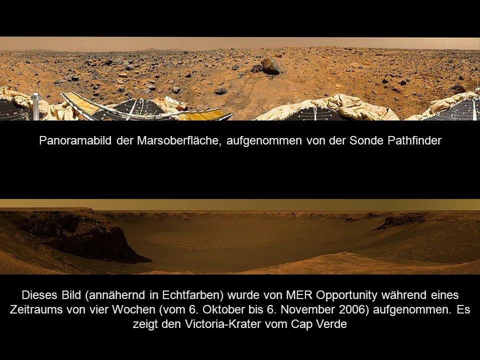 Panoramabild der Marsoberfläche, aufgenommen von der Sonde Pathfinder