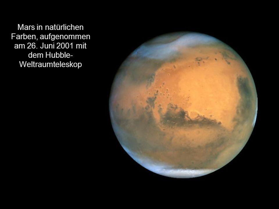 Mars in natürlichen Farben, aufgenommen am 26