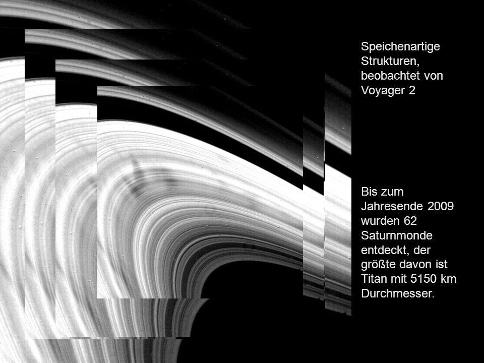 Speichenartige Strukturen, beobachtet von Voyager 2
