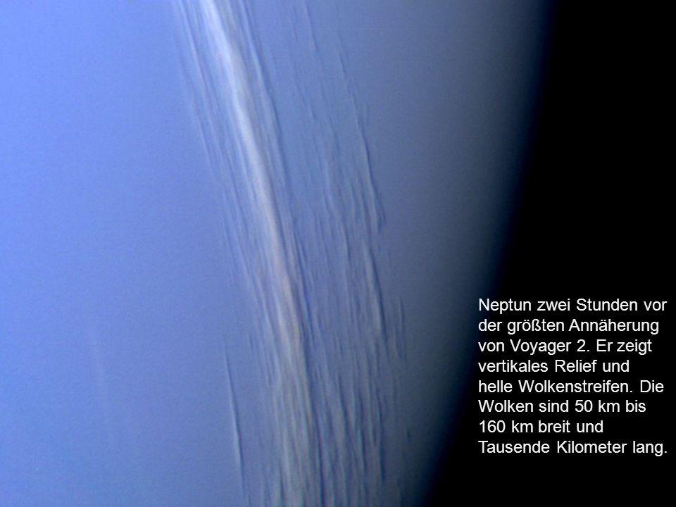 Neptun zwei Stunden vor der größten Annäherung von Voyager 2