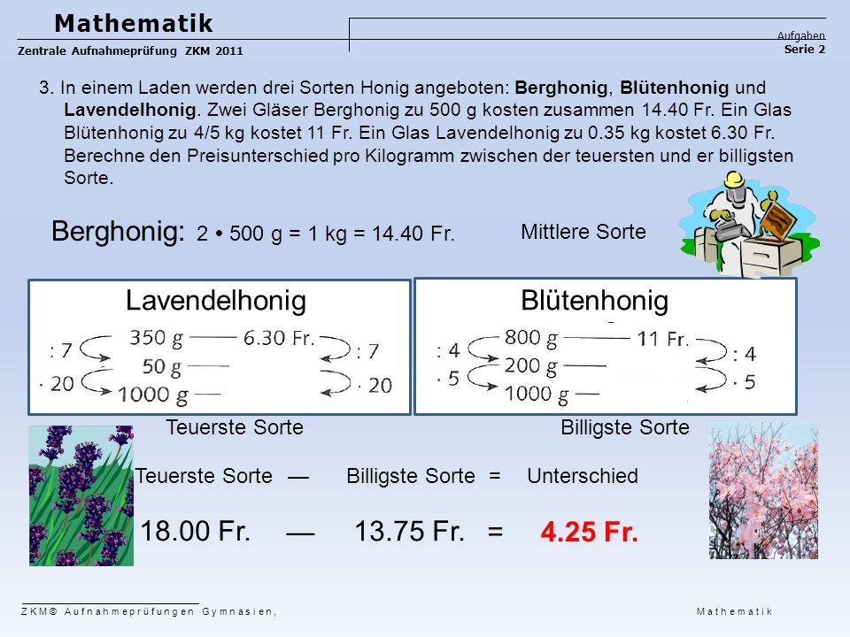 Berghonig: 2  500 g = 1 kg = 14.40 Fr. Lavendelhonig Blütenhonig