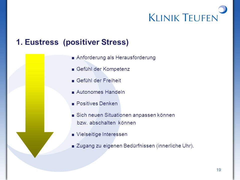 1. Eustress (positiver Stress)