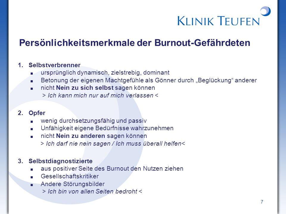 Persönlichkeitsmerkmale der Burnout-Gefährdeten