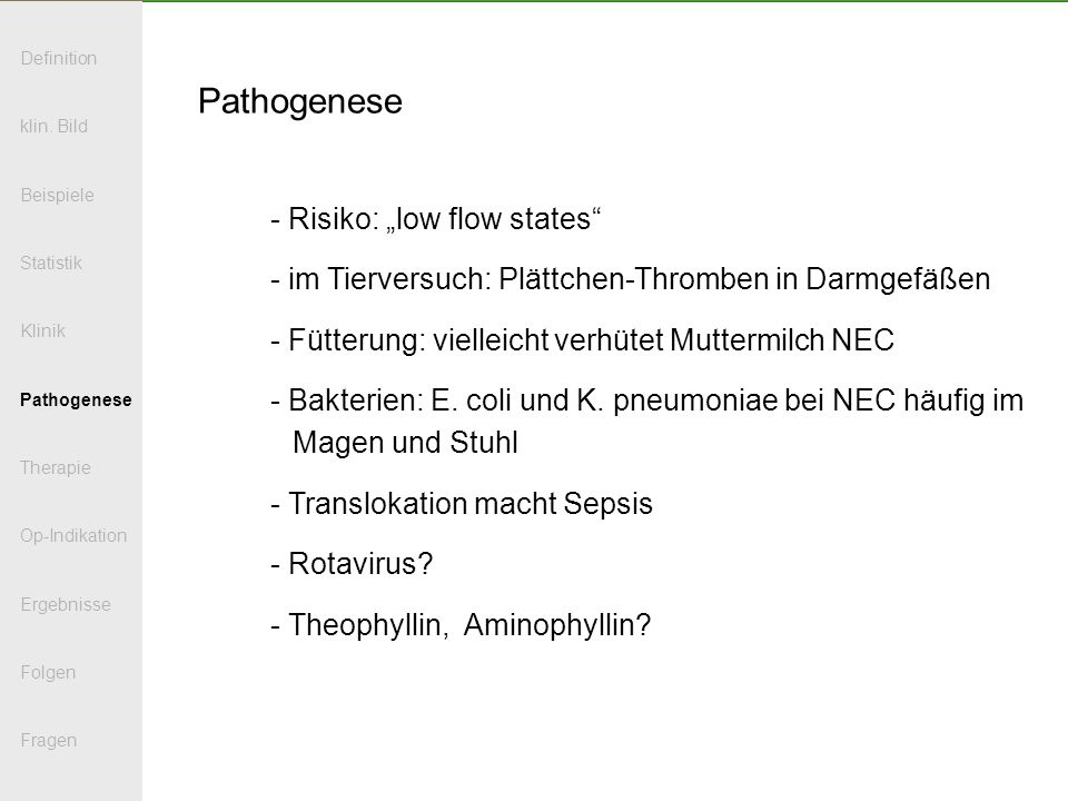 "Pathogenese Risiko: ""low flow states"