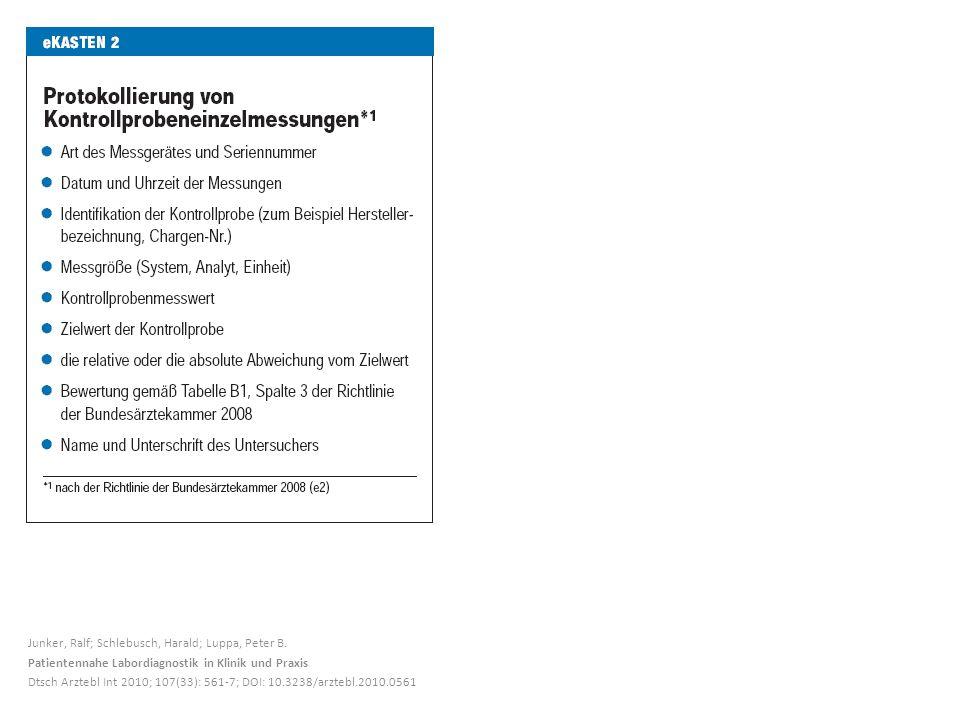 Junker, Ralf; Schlebusch, Harald; Luppa, Peter B.