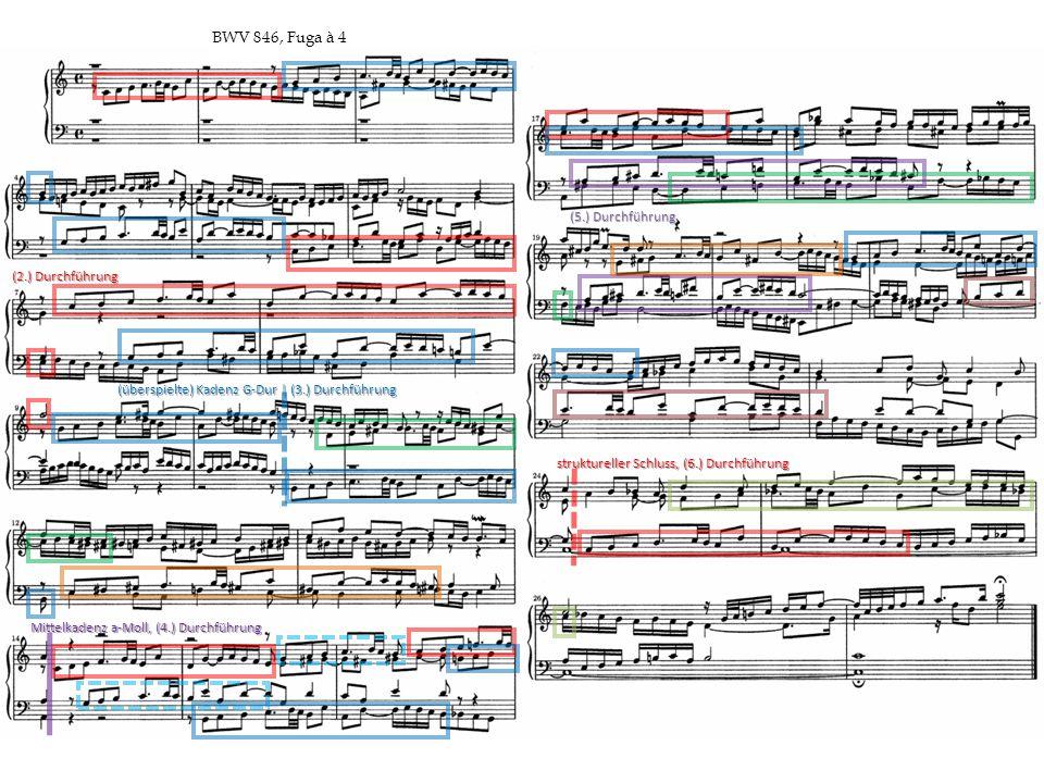 BWV 846, Fuga à 4 (5.) Durchführung (2.) Durchführung