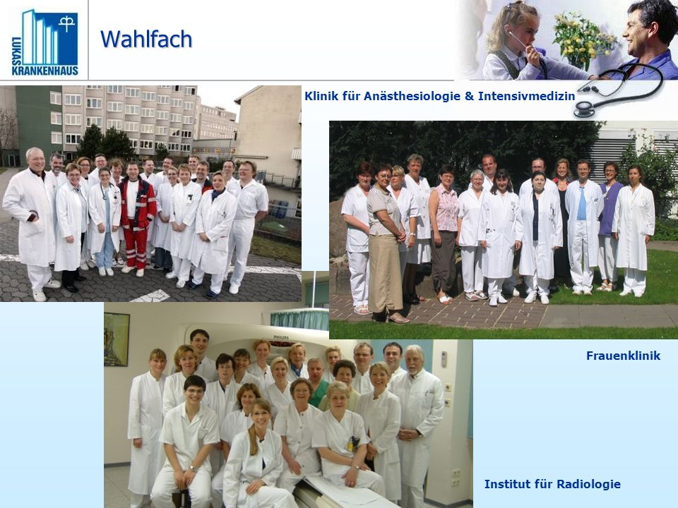 Wahlfach Klinik für Anästhesiologie & Intensivmedizin Frauenklinik
