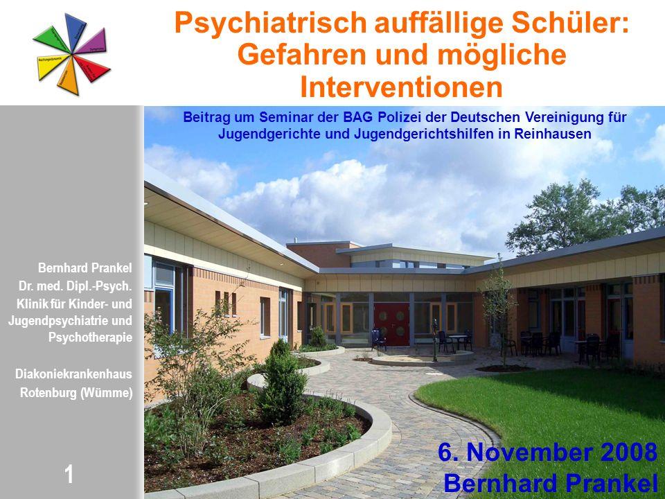 Psychiatrisch auffällige Schüler: Gefahren und mögliche Interventionen