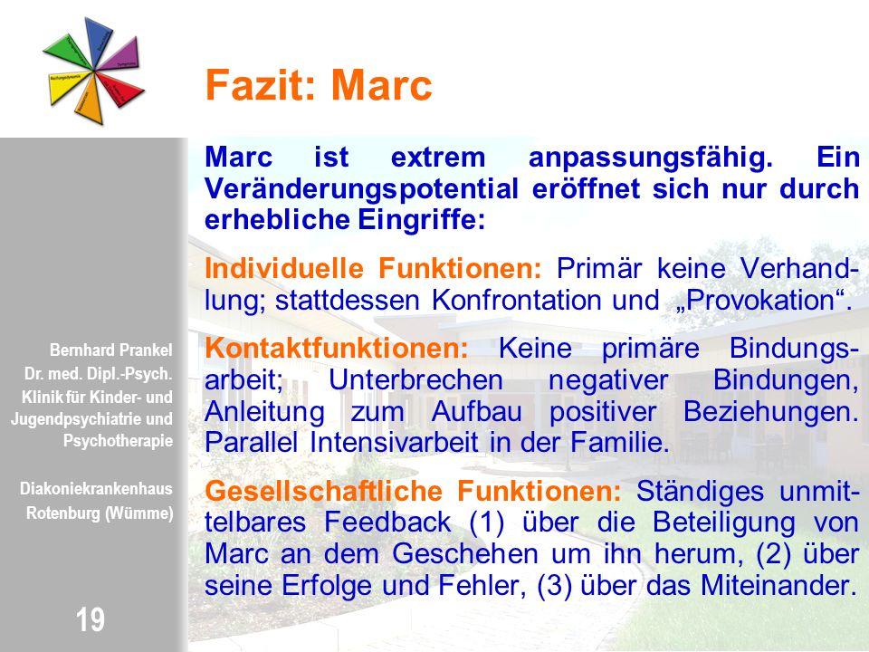 Fazit: Marc Marc ist extrem anpassungsfähig. Ein Veränderungspotential eröffnet sich nur durch erhebliche Eingriffe: