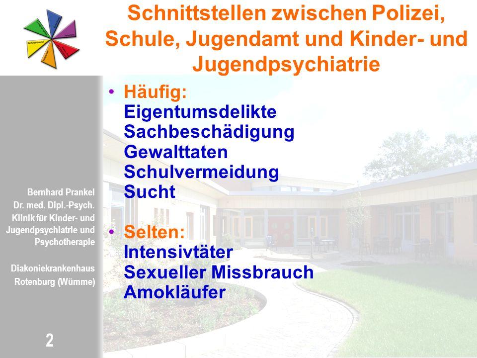 Schnittstellen zwischen Polizei, Schule, Jugendamt und Kinder- und Jugendpsychiatrie
