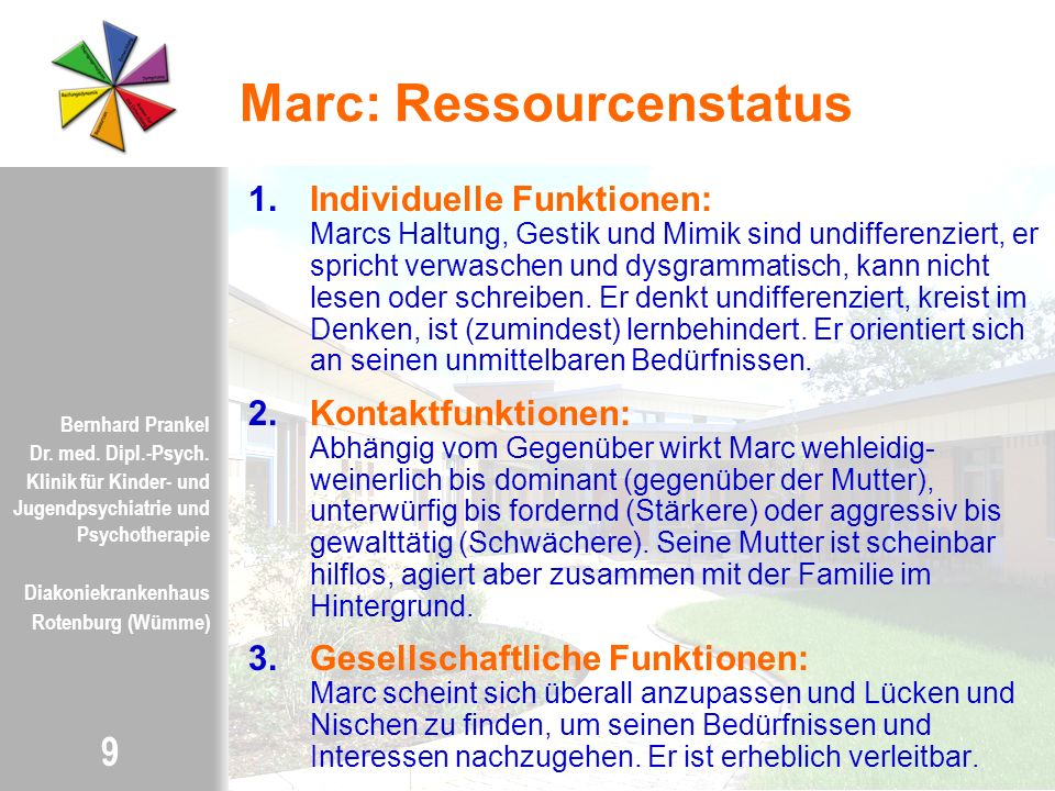 Marc: Ressourcenstatus