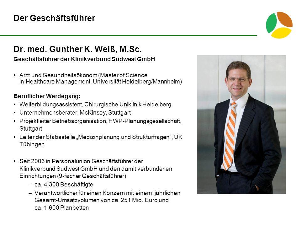 Dr. med. Gunther K. Weiß, M.Sc.