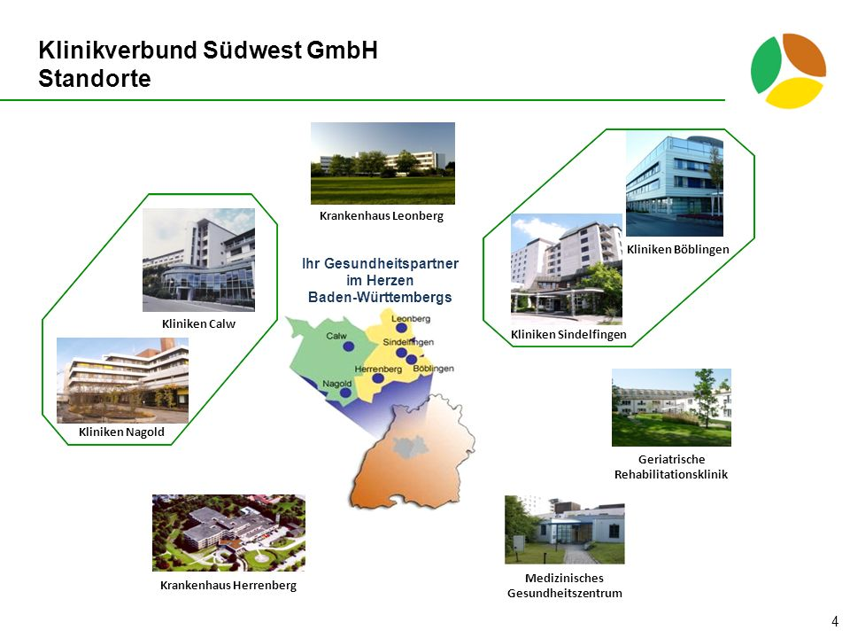 Klinikverbund Südwest GmbH Standorte