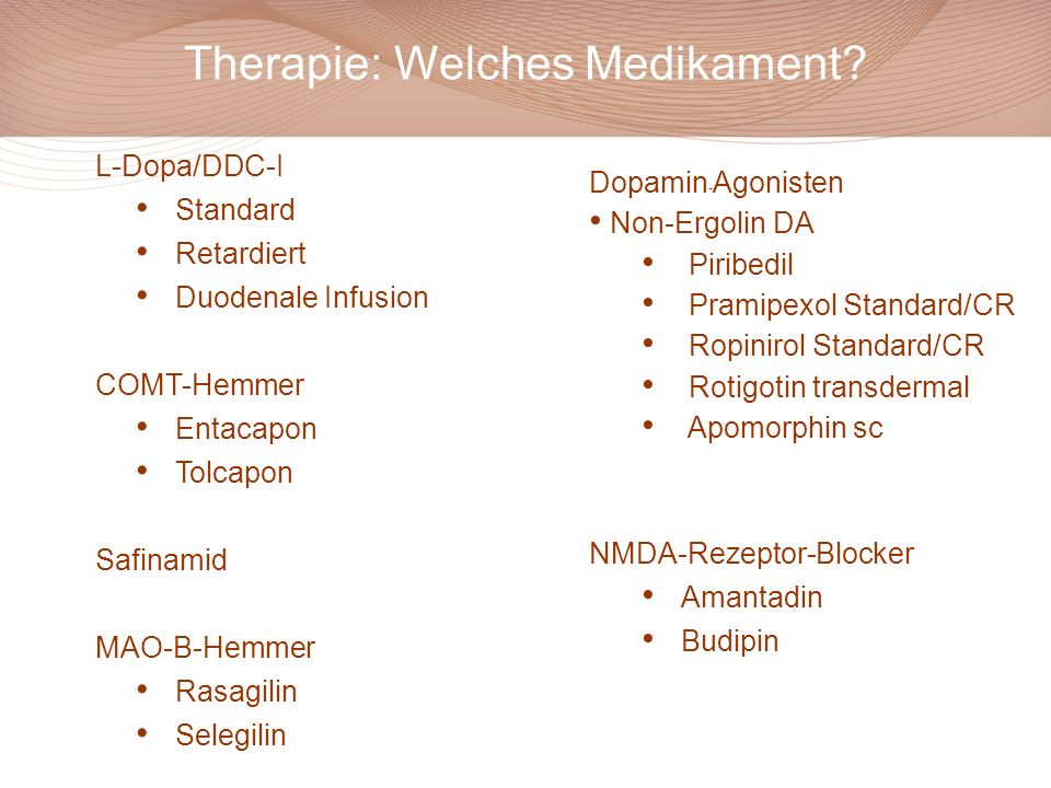 Therapie: Welches Medikament