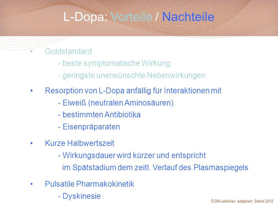 L-Dopa: Vorteile / Nachteile