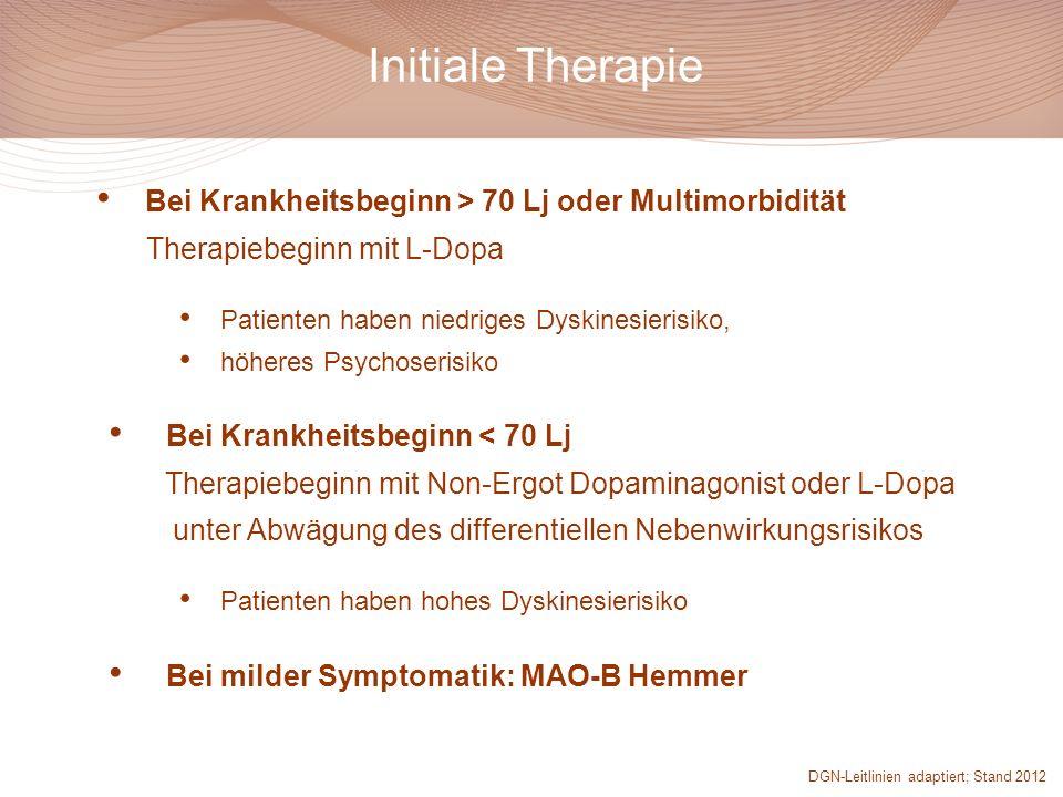 Initiale Therapie Bei Krankheitsbeginn > 70 Lj oder Multimorbidität