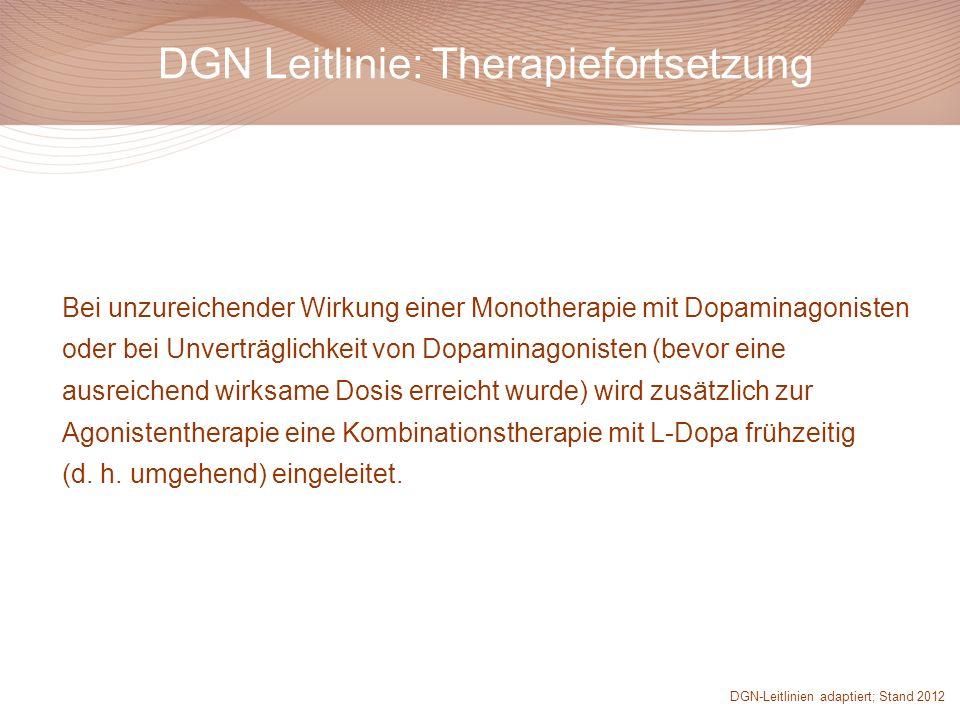 DGN Leitlinie: Therapiefortsetzung