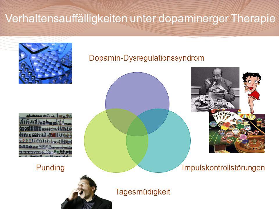 Verhaltensauffälligkeiten unter dopaminerger Therapie