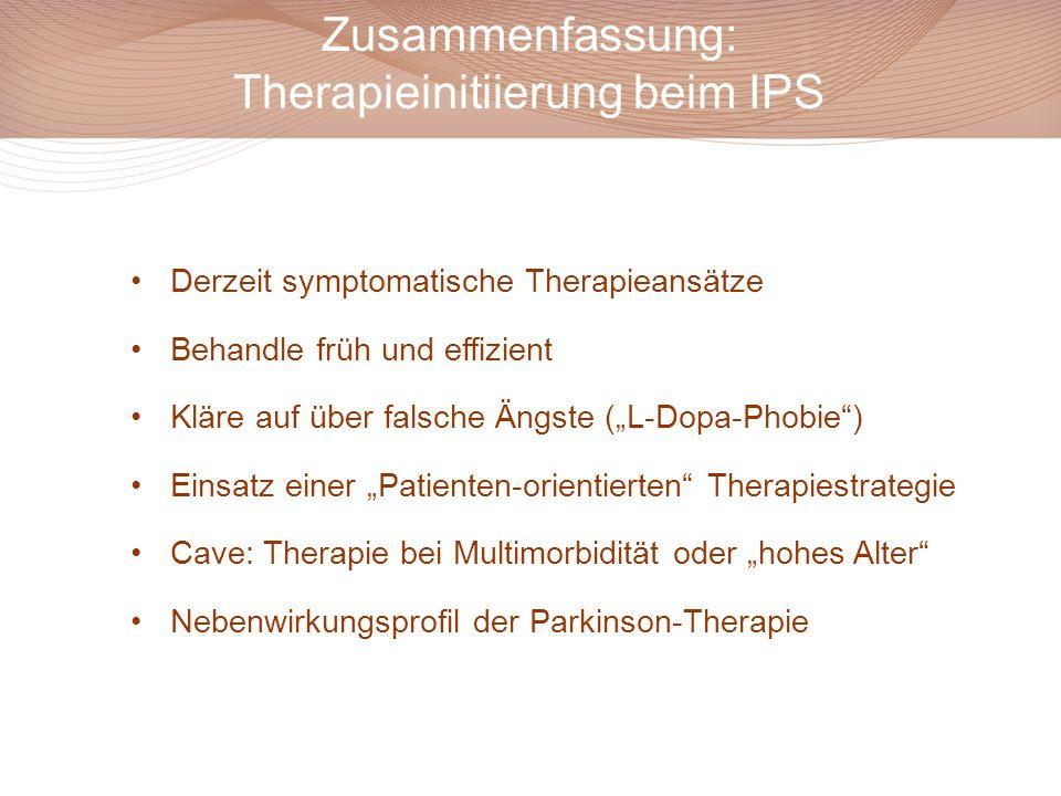 Zusammenfassung: Therapieinitiierung beim IPS