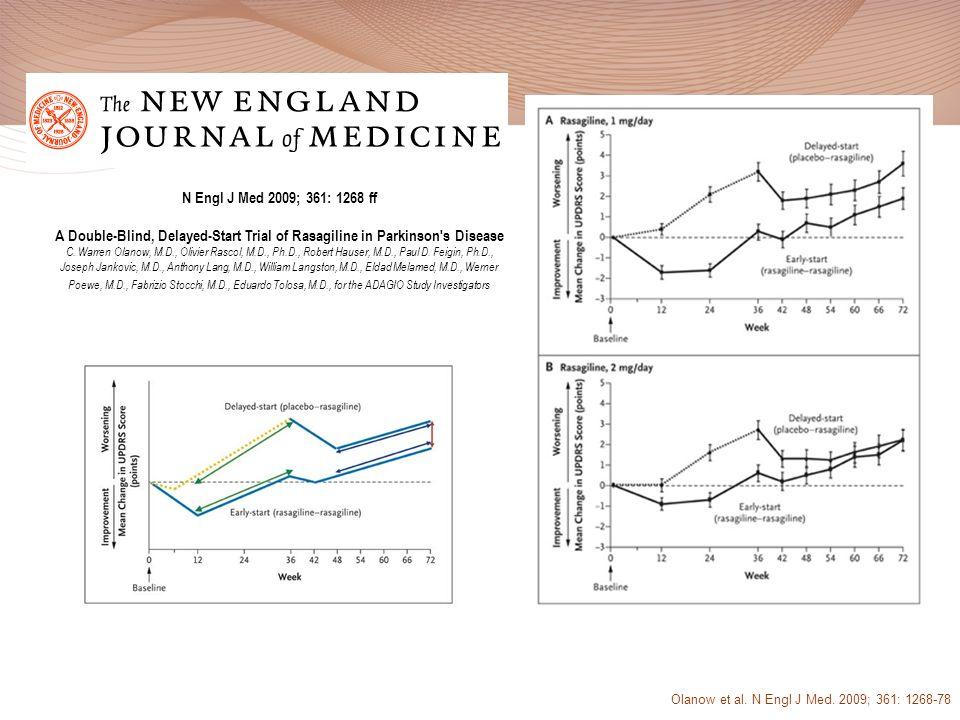 Olanow et al. N Engl J Med. 2009; 361: 1268-78