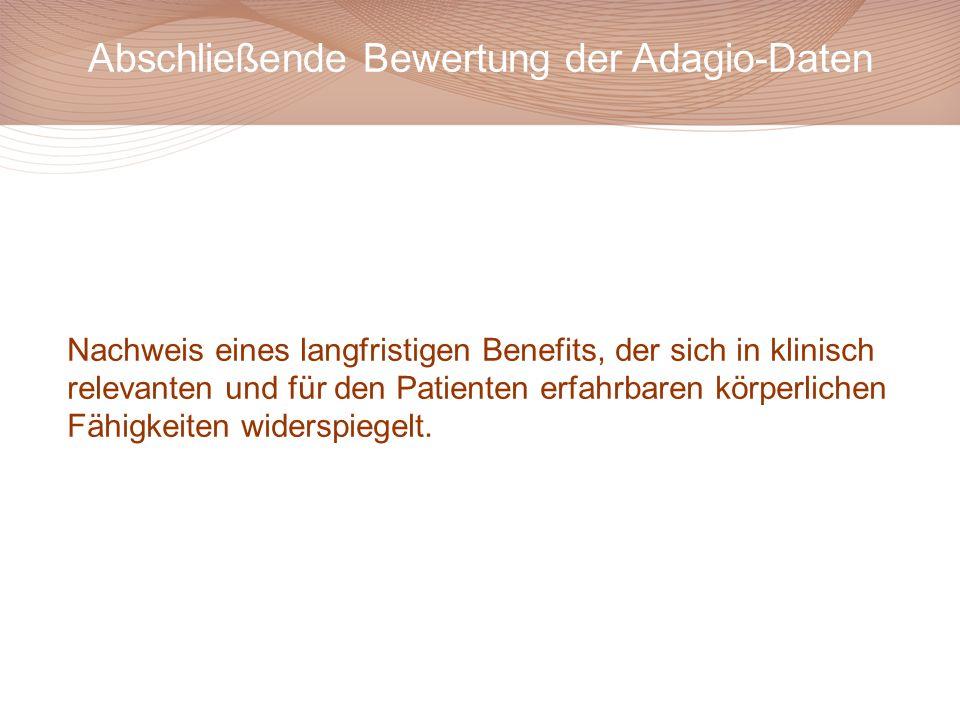 Abschließende Bewertung der Adagio-Daten