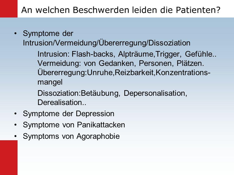 An welchen Beschwerden leiden die Patienten