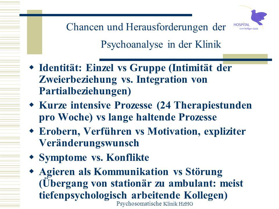 Chancen und Herausforderungen der Psychoanalyse in der Klinik