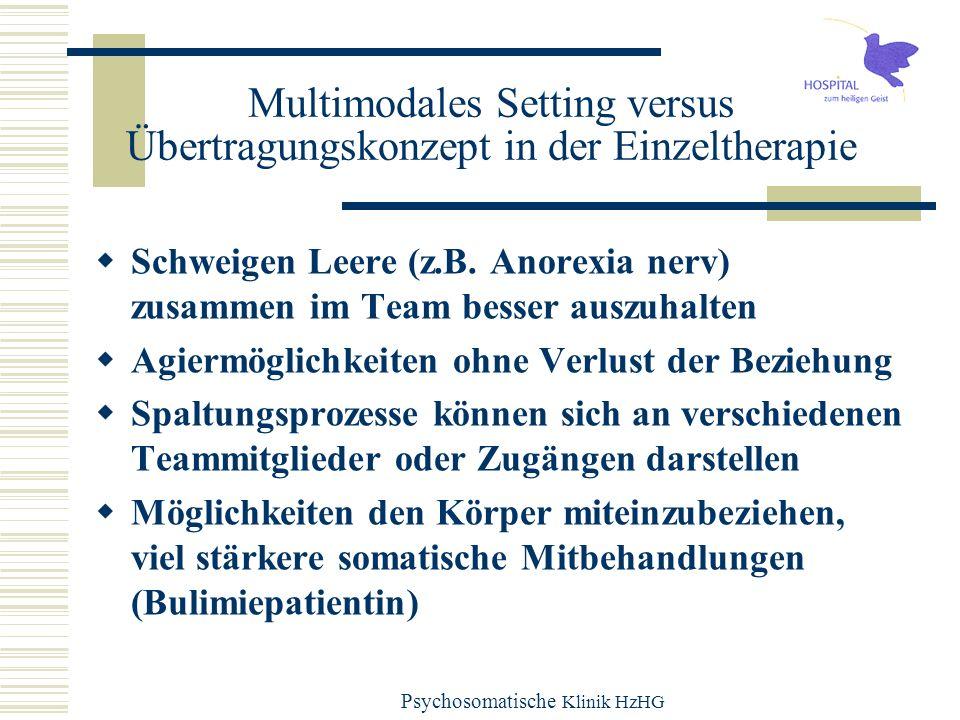 Multimodales Setting versus Übertragungskonzept in der Einzeltherapie