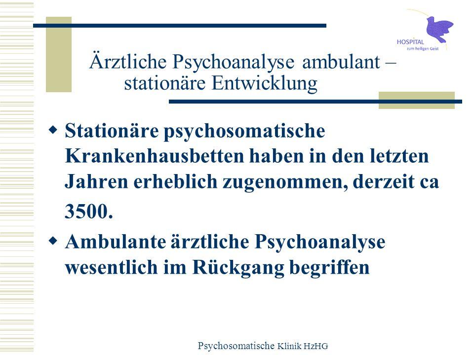 Ärztliche Psychoanalyse ambulant – stationäre Entwicklung