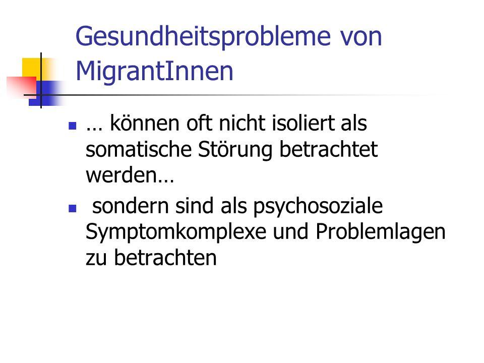 Gesundheitsprobleme von MigrantInnen