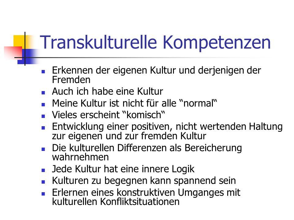 Transkulturelle Kompetenzen