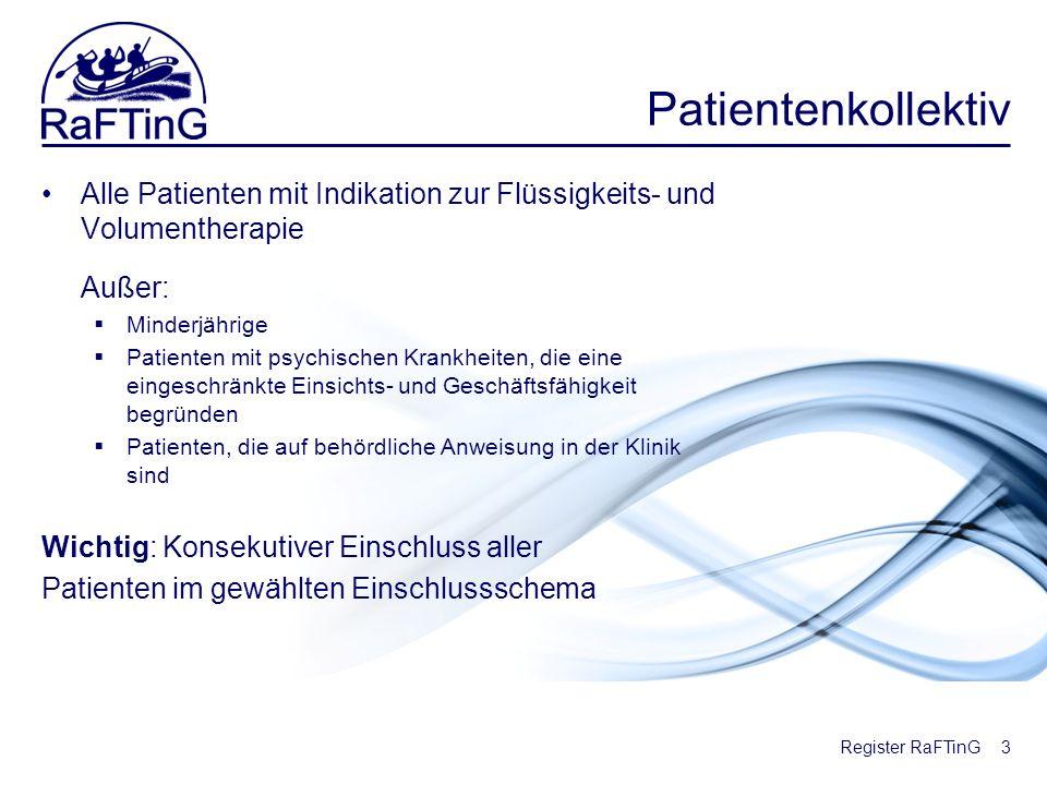 Patientenkollektiv Alle Patienten mit Indikation zur Flüssigkeits- und Volumentherapie. Außer: Minderjährige.