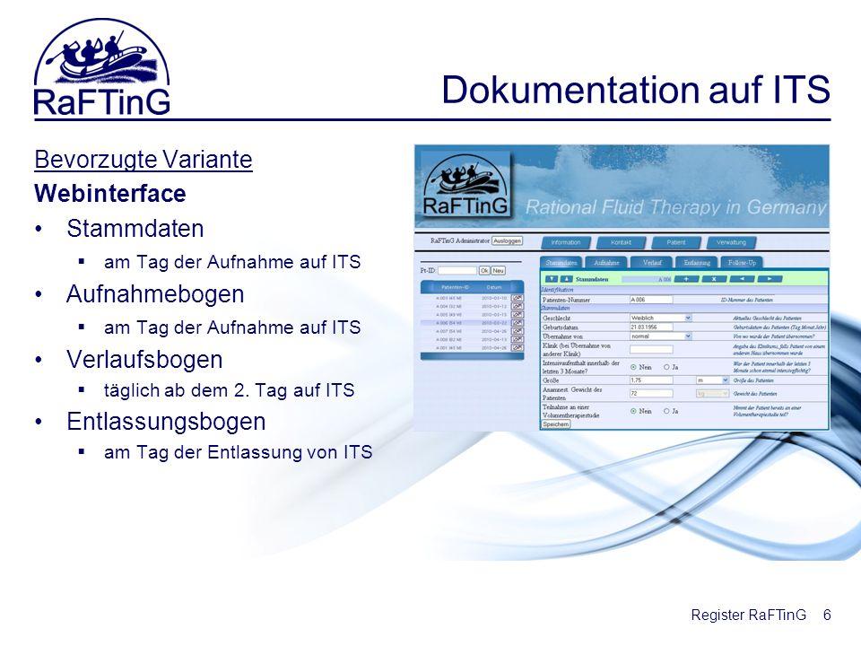 Dokumentation auf ITS Bevorzugte Variante Webinterface Stammdaten