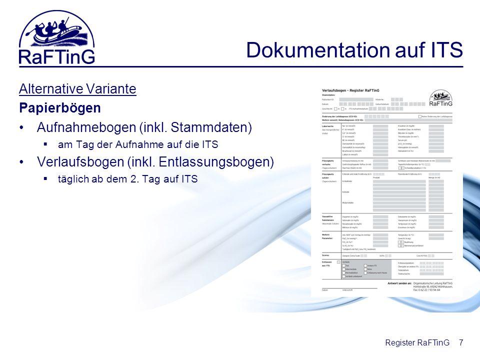 Dokumentation auf ITS Alternative Variante Papierbögen