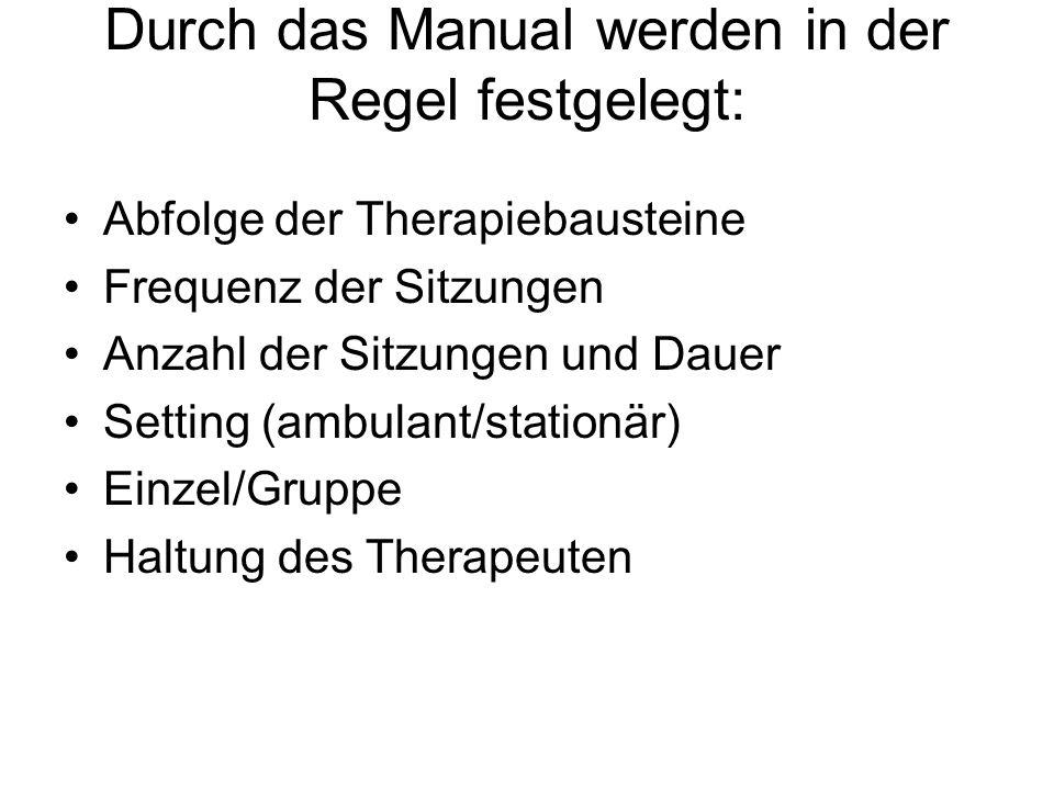 Durch das Manual werden in der Regel festgelegt: