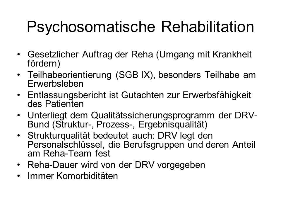 Psychosomatische Rehabilitation