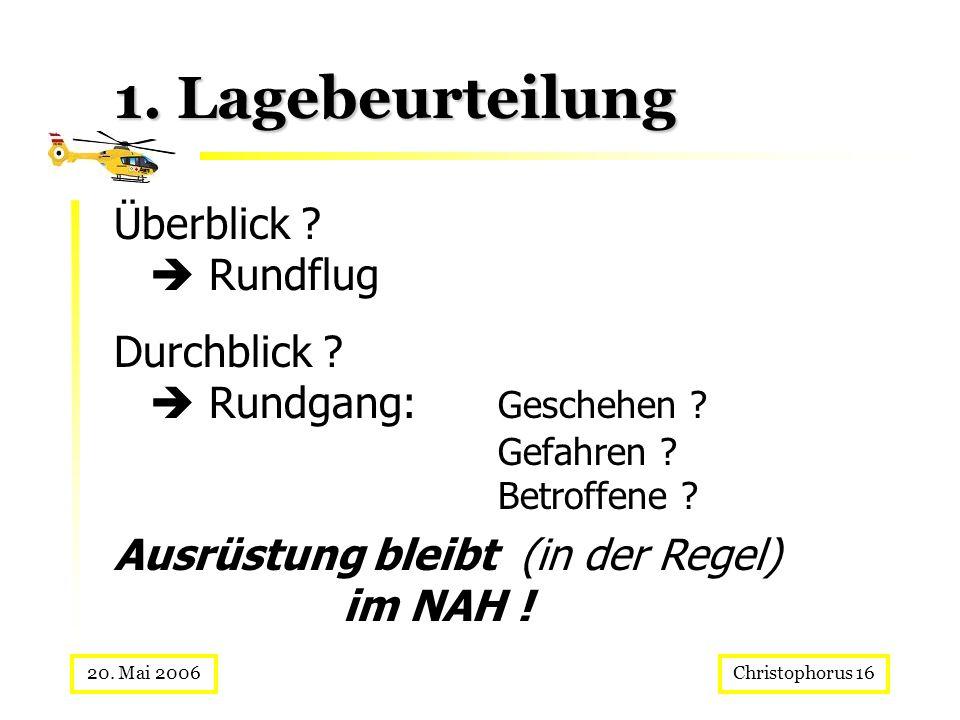 1. Lagebeurteilung Überblick  Rundflug