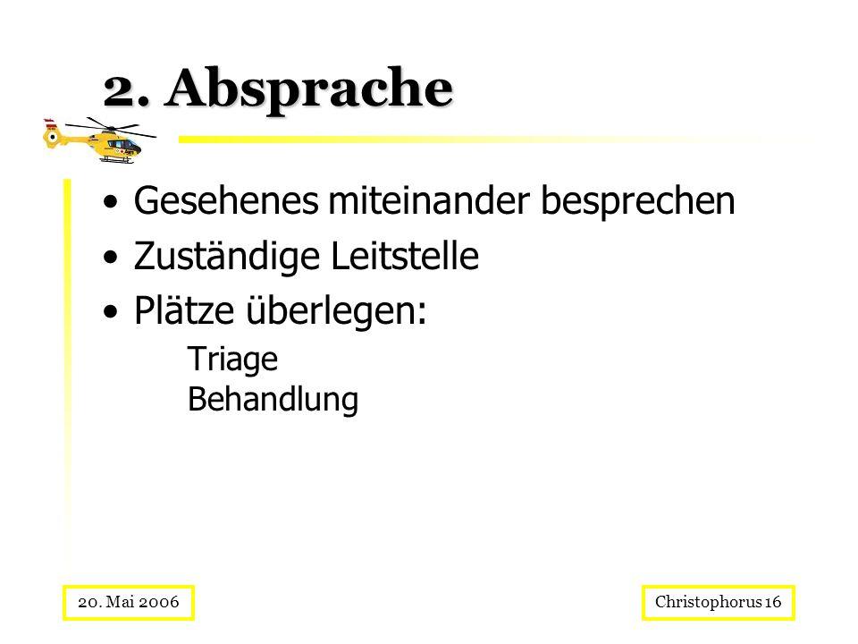 2. Absprache Gesehenes miteinander besprechen Zuständige Leitstelle