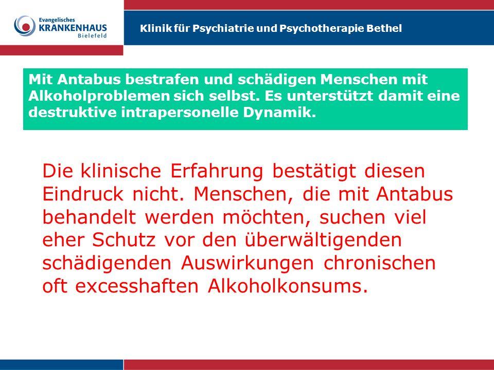 Mit Antabus bestrafen und schädigen Menschen mit Alkoholproblemen sich selbst. Es unterstützt damit eine destruktive intrapersonelle Dynamik.