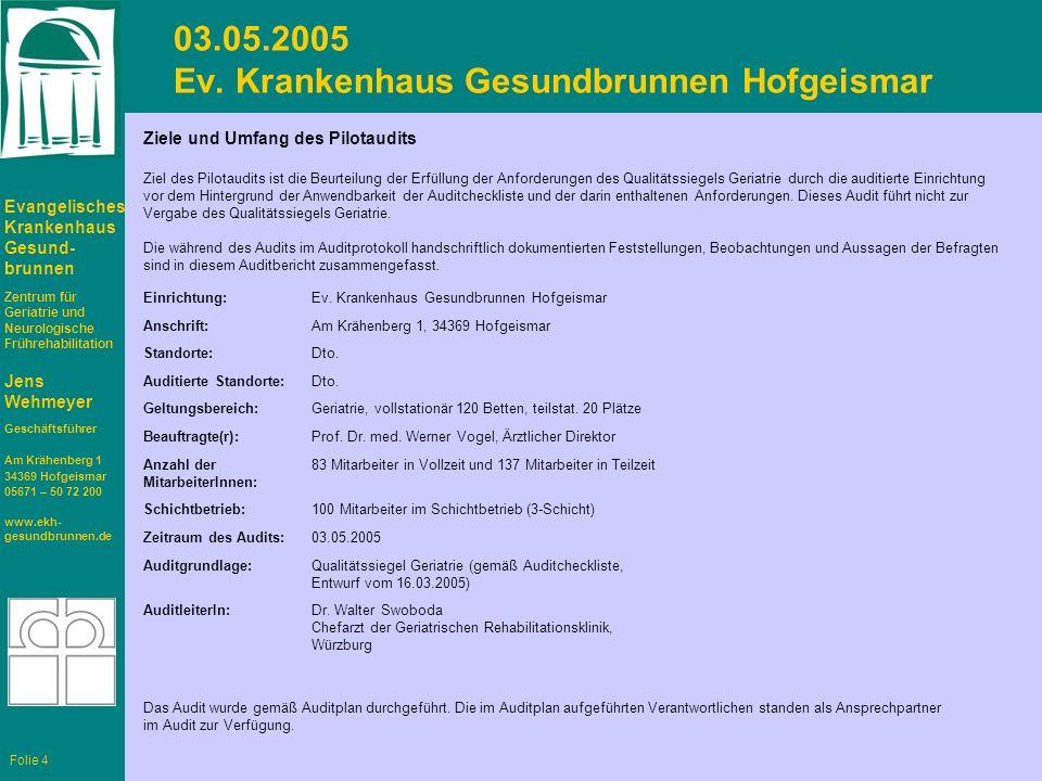 03.05.2005 Ev. Krankenhaus Gesundbrunnen Hofgeismar