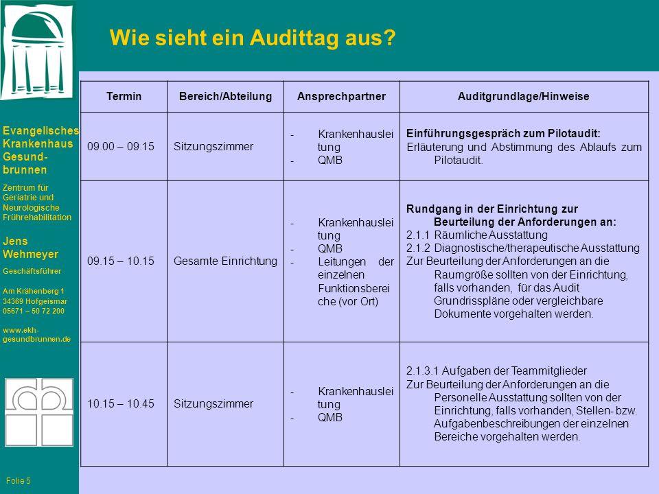 Wie sieht ein Audittag aus