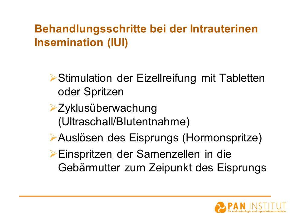 Behandlungsschritte bei der Intrauterinen Insemination (IUI)
