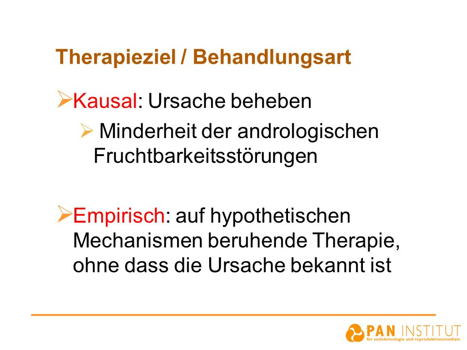 Therapieziel / Behandlungsart
