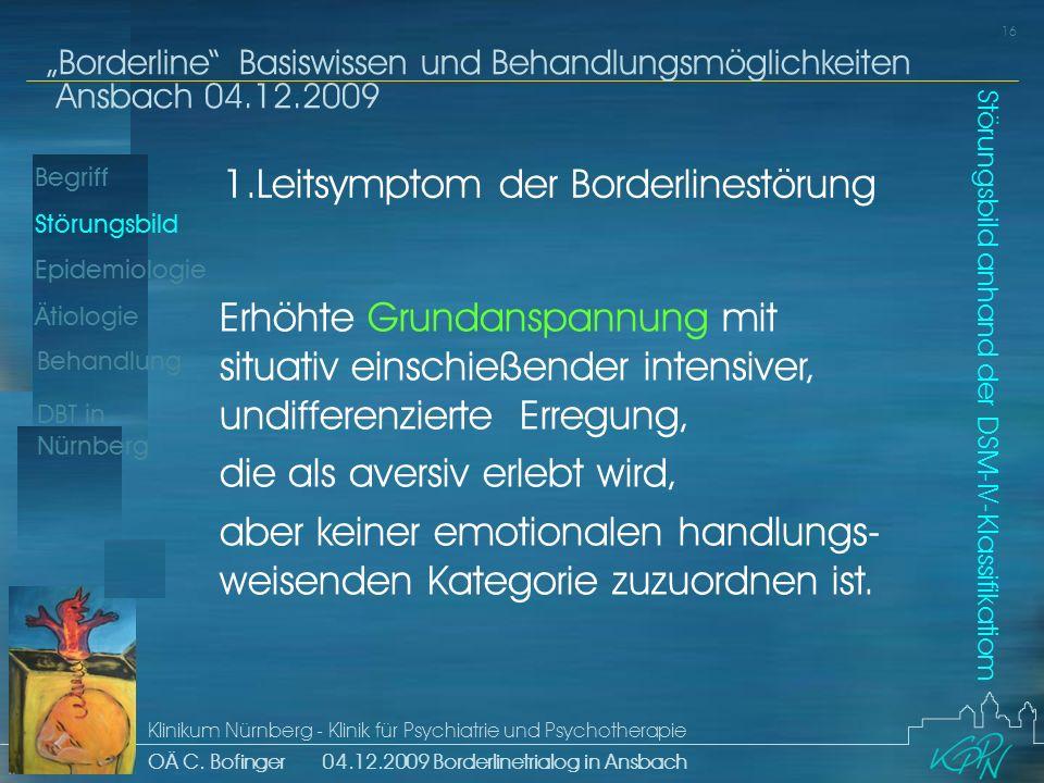 1.Leitsymptom der Borderlinestörung