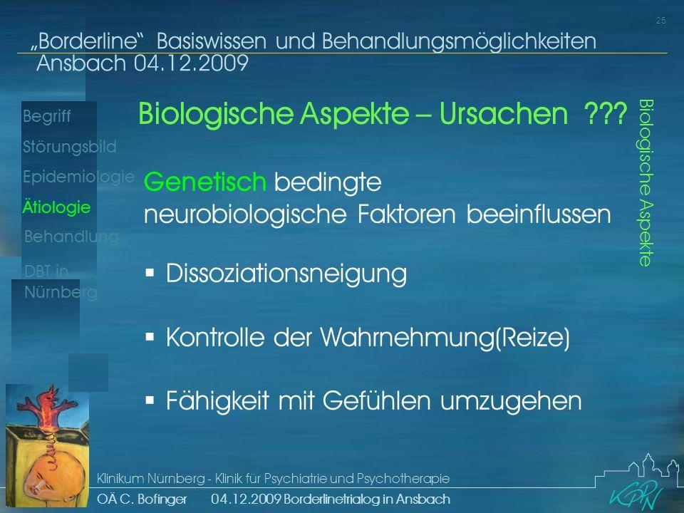 Biologische Aspekte – Ursachen