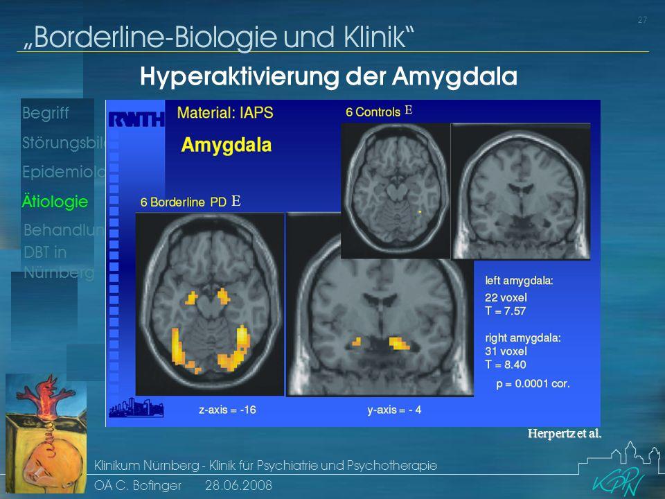 Hyperaktivierung der Amygdala