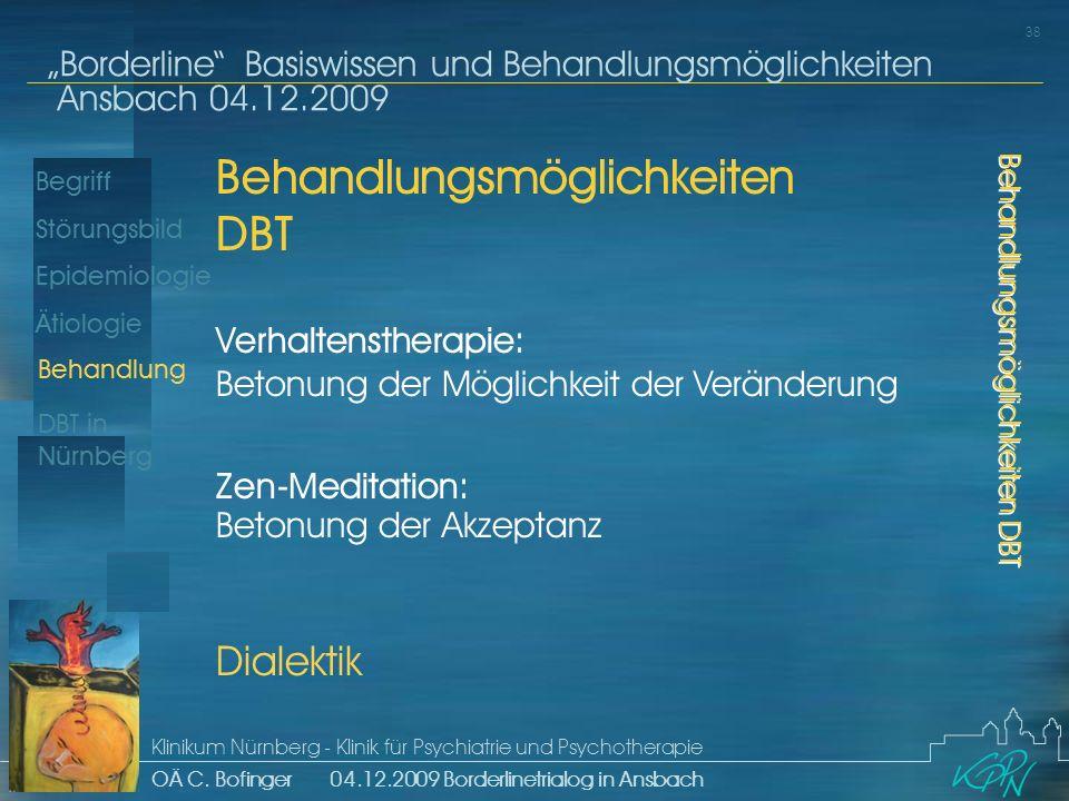 Behandlungsmöglichkeiten DBT