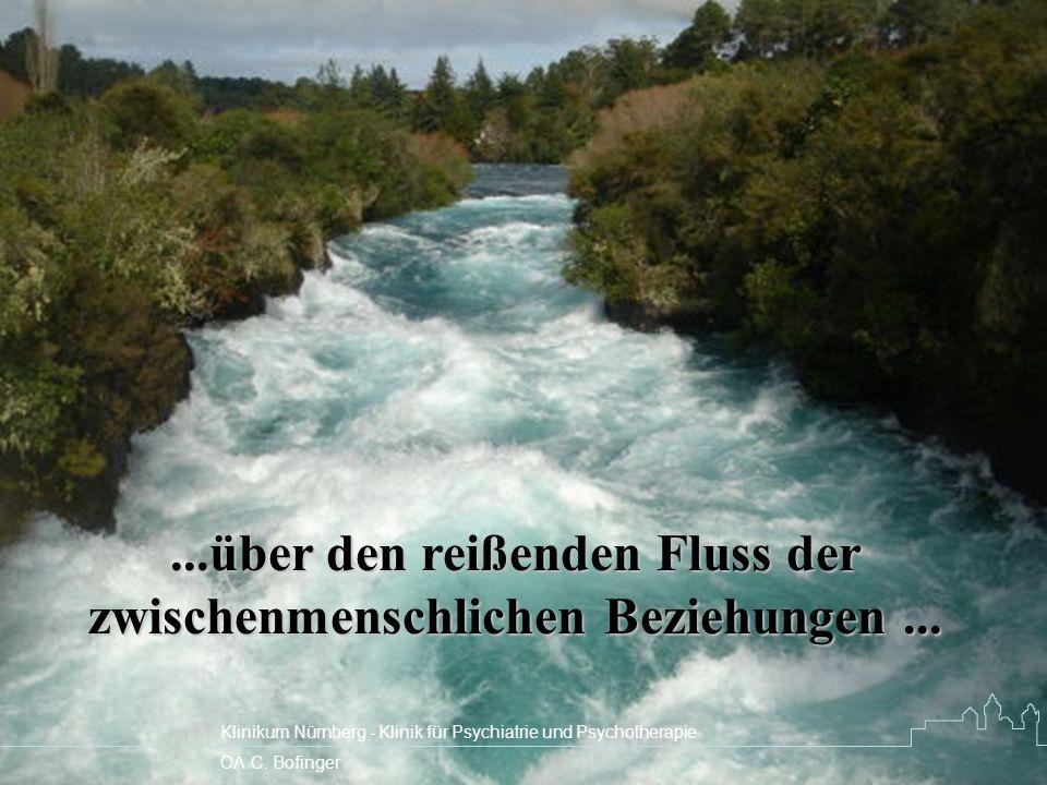 ...über den reißenden Fluss der zwischenmenschlichen Beziehungen ...