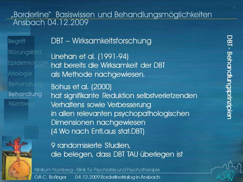 DBT – Wirksamkeitsforschung