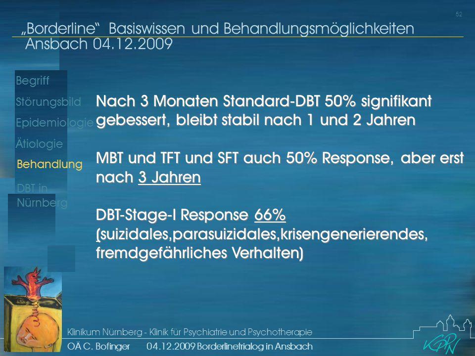 MBT und TFT und SFT auch 50% Response, aber erst nach 3 Jahren